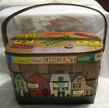 Caro Nan Purse Handbag Wooden Woven Basket Omaha Nebraska Signed