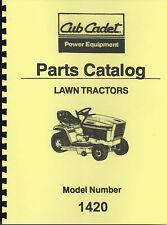 Cub Cadet 1420 Parts Manual