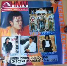 "MICHAEL JACKSON Display 2-Sided LARGE Poster PROMO ONLY UK Hmv 24"" Rare"