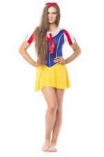 Blanche NEIGE Conte de Fées Princesse Femme Costume Halloween Costume uk taille 10