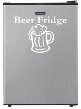 """BEER FRIDGE"" VINYL DECAL REFRIGERATOR STICKER DORM MAN CAVE MINI GARAGE WALL"