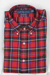 Ralph Lauren Red Blue Green Classic Dress Shirt Green Pony NWT