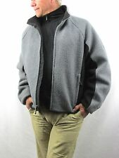 Woolrich for  Discovery Channel Quest Gray Black Boiled Wool Jacket Men's L NY20
