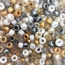 100 X Gold Angel Mix Pony Beads Clips de tétine, Landau Charms