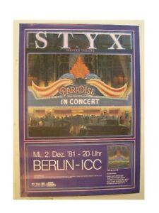 Styx Poster Paradise Concert Berlin