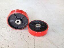 2 x Polyurethane Wheels 180*50mm for Pallet Jack/Stacker + Bearings