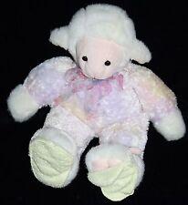 """Aurora LAMB 11"""" Plush Pastel Tie Dye Purple Pink Plush Slippers Soft Toy Stuffed"""