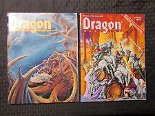 1991 DRAGON Magazine #175 FVF 176 FVF177 FN 179 FN+ LOT of 4 D&D AD&D