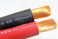 EXCELENE 4/0 WELDING CABLE RED BLACK 0000 COPPER WIRE BATTERY SOLAR LEADS