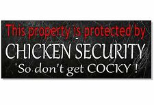 Divertido Pollo advertencia de seguridad Placa signo cámara frontal de pared Puerta Gallina Coop Huevos