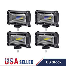 "4X 5""inch 288W LED Work Light Bar Flood Combo Fog Driving OffRoad Car Truck"