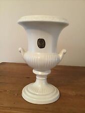 More details for dartmouth pottery devon off white cream two handled urn vase with label