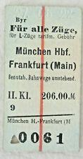 Eisenbahn-Ticket von 1922, München Hbf. - Frankfurt (Main)