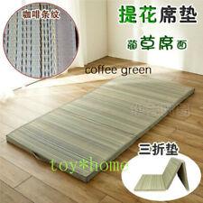 Straw Mat Fabric Folding Tatami Mattress Rectangle Foldable Floor Mat Flooring