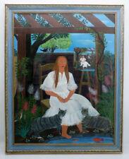 Naive künstlerische Malerei mit Porträts & Personen