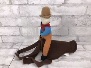 Dog Cowboy Rider Pet Clothes Coat Costume Cosplay Jacket Dress Up Medium 14""