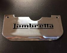 Splash plate stainless steel 'LAMBRETTA' for Lambretta series 3