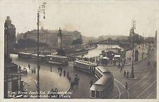 Wien IX: Gruß vom Franz Josefs Kai Fotokarte 1939 mit herrlichen Strassenbahnen
