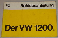 Betriebsanleitung VW 1200 Käfer/Spar-Käfer von 08/1974