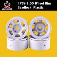 4PCS AUSTAR 1.55 Inch RC Car Wheel Rim Hub for 1/10 RC Crawler Car Tamiya CC01