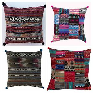 "Handmade Cotton Kilim HandLoomed Floor Pillow Bohemian Cushion Cover 16"" 20"" 24"""