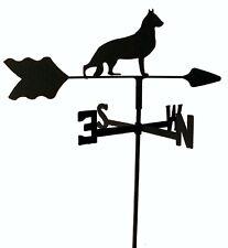 GERMAN SHEPHERD GARDEN STYLE WEATHERVANE WROUGHT IRON LOOK MADE IN USA TLS1021IN
