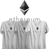 ETHEREUM Logo Limited Edition fitted soft Tshirt Cypto currency Bitcoin Litecoin