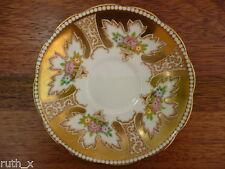 PERFECT 1930s Royal Albert ROYALTY Bone China Saucer GOLD England Antique 20s UK