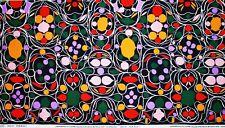 Marimekko fabric Talvipalatsi black (Winter Palace) 145x50cm, Aino-Maija Metsola
