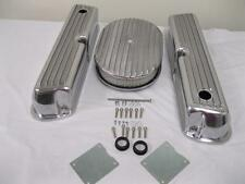 Ford 289 302 351W Ford Finned Polished Aluminum Valve Covers and Air Cleaner Kit