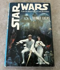 1976 STARWARS HARDCOVER BOOK - WITH DUST JACKET AADVENTURES OF LUKE SKYWALKER #1