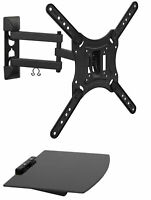 Mount-It! Full Motion TV Wall Mount with Shelf