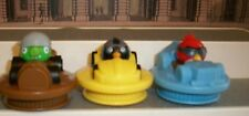 ANGRY  BIRDS GO LOT OF 3 SLIDERS BOMBERS CARS  2014 CAKE TOPPERS PIG RED, BLACK