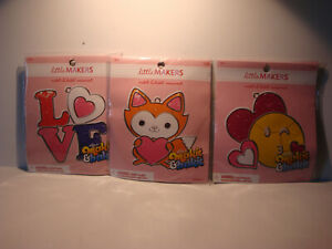 MAKIT & BAKIT LARGE VALENTINES DAY SUN CATCHER KITS LOVE WINKING EMOJI YOUR CHO