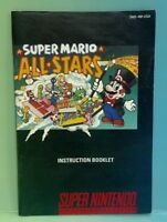 Mario All-Stars - Super Nintendo SNES - Instruction MANUAL ONLY - No Game!