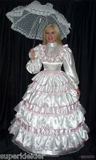 Deluxe vestido de baile volantes satén Sissy bondage Maid transexuales tras Mass (glam 032)