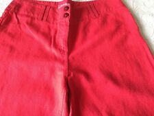 Per Una Roma Fit 50% Linen/50% Cotton in Bright Red Size 12 R New