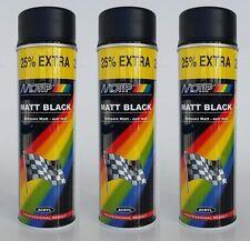 MOTIP PRESTO Rallye Lack schwarz matt 3 x 500 ml Farbspray Spray