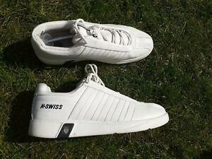 Men's White Leather K-Swiss Trainers UK Size 11 EU 46