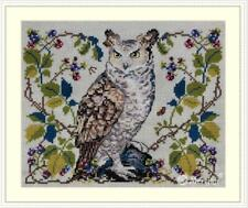 Merejka Counted Cross Stitch Kit on 32 ct evenweave  - The Owl