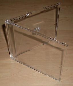 10 CD Hüllen durchsichtig transparent Cases Maxi Single 7mm Neu