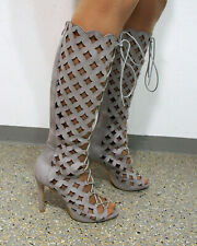 Stiletto Stiefel Größe 40 Lochmusterung F790