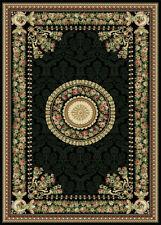 "FRENCH BLACK ORIENTAL AREA RUG 4X6 PERSIAN CARPET 023 - ACTUAL 3' 7"" x 5' 2"""