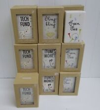 KWD6 16 WHOLESALE LOT OF CERAMIC BANKS TECH FUND GREEN FEES BLING I TUNES