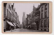 PHOTO - La Rue Flamande - BRUGES - BELGIQUE - Vers 1900 - Tirage d'époque.