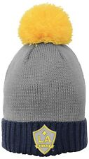 Infant Baby Los Angeles Galaxy Yellow Gray Pom Beanie Hat Quakes NWT MLS Soccer