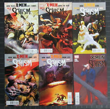 X-MEN SCHISM #1 TO 5 2011  NM COMP. WOLVERINE + CYCLOPS BATTLE FOR CONTROL!!