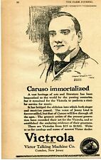 1921 small Print Ad of Victor Talking Machine Co Victrola Caruso Immortalized