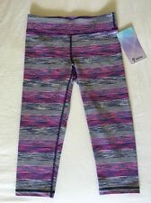 Ivivva Rhythmic Crop Pink Purple Stripe Size 14 Lululemon Sz 4