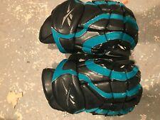 "New listing Reebok 8K hockey gloves black and teal 14"""